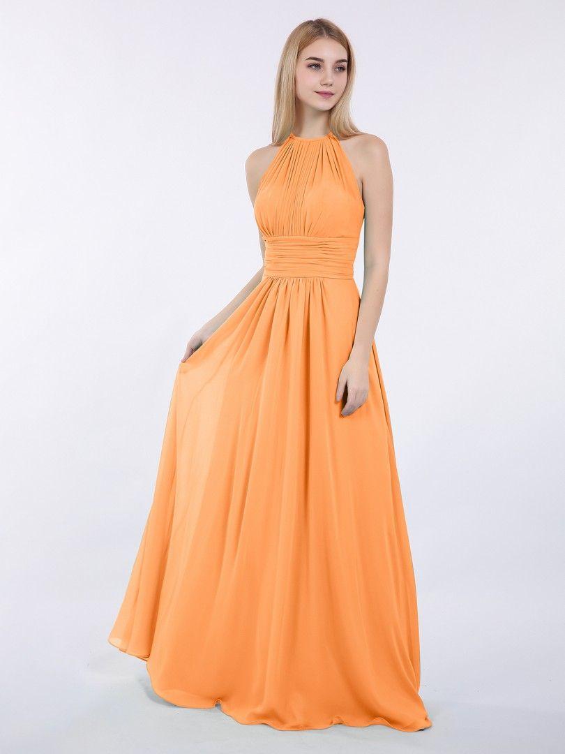 ee705942aea Babaroni Doris Halter Chiffon Maxi Dress of Bridesmaid