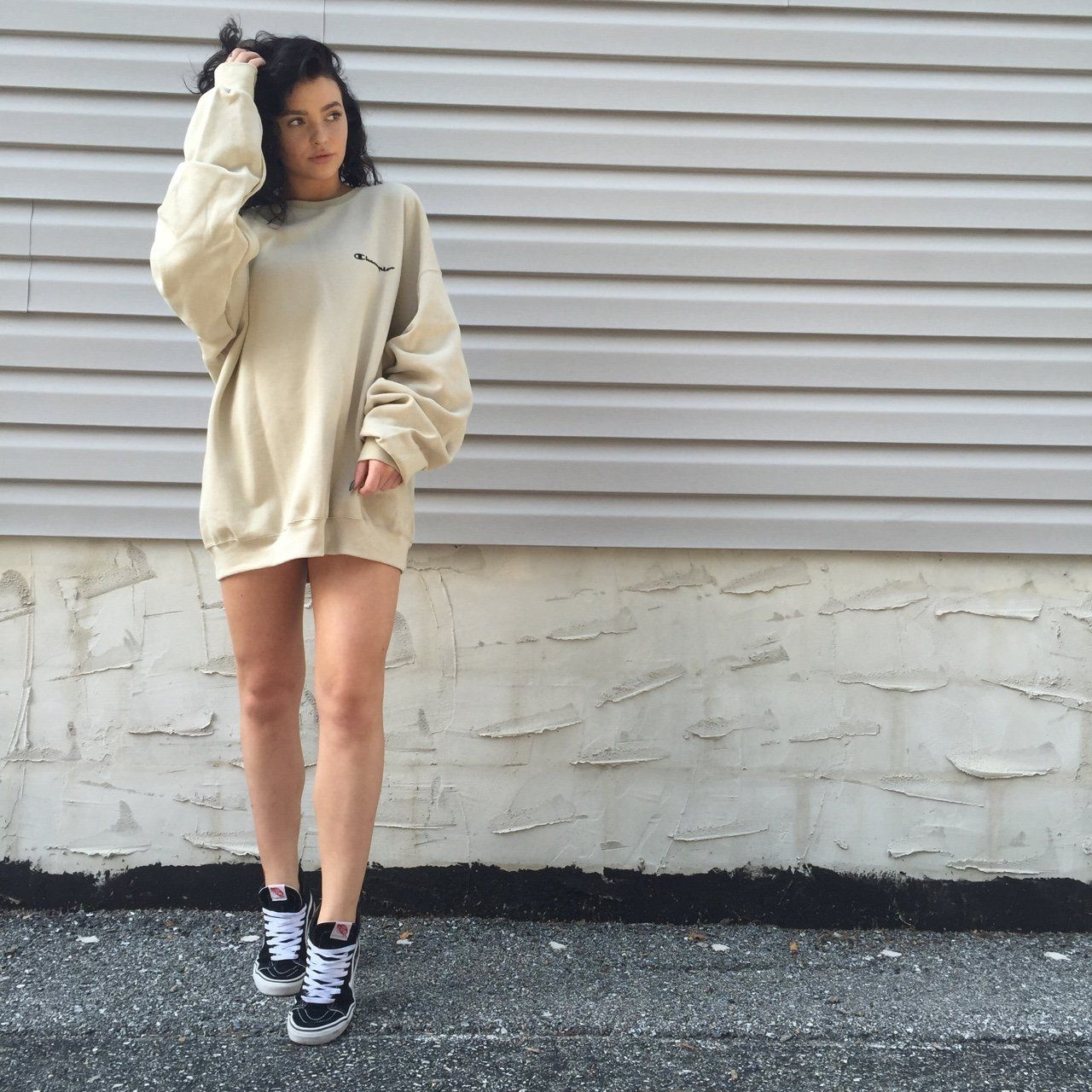 380af04be0c2 Brand new with tags! Vintage 90s oversized CHAMPION sweatshirt jumper. Rare  nude color! Price is firm you cannot find this in stores anywhere.