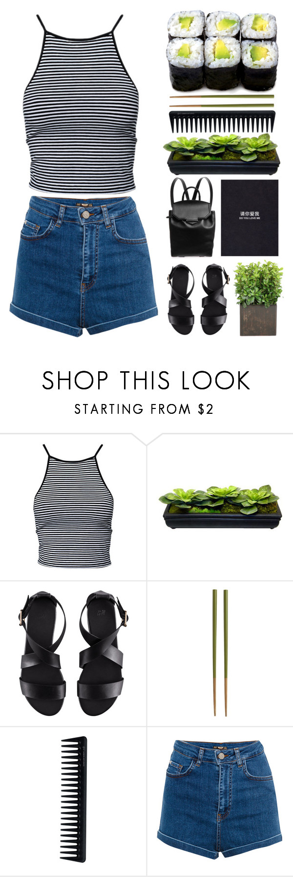 """""""#30"""" by iamaunicornx3 ❤ liked on Polyvore featuring Estradeur, H&M, Crate and Barrel, GHD, Pull&Bear and Alexander Wang"""
