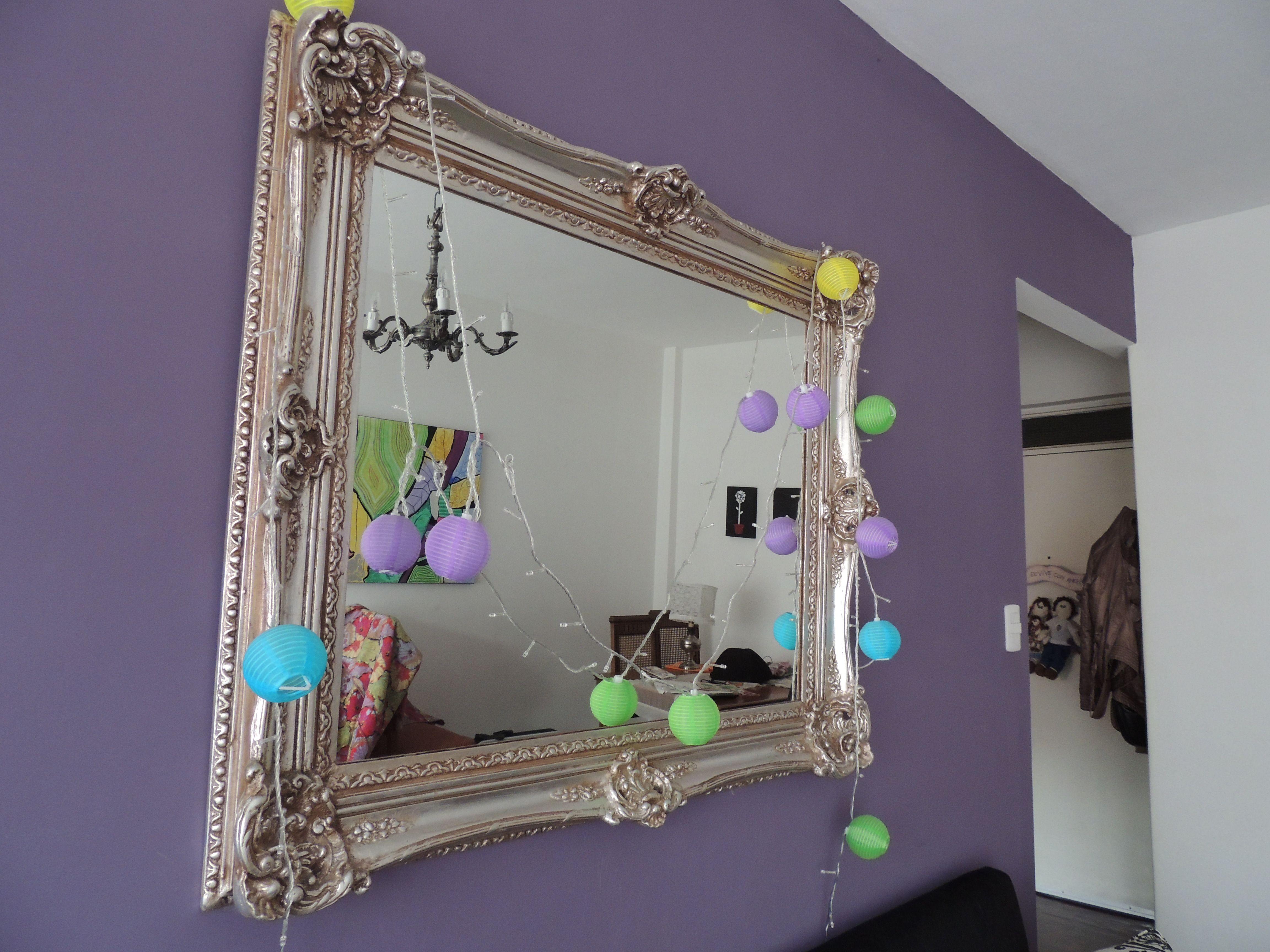 Espejo plateado a la hoja mobel espejos plateados - Espejos marco plateado ...