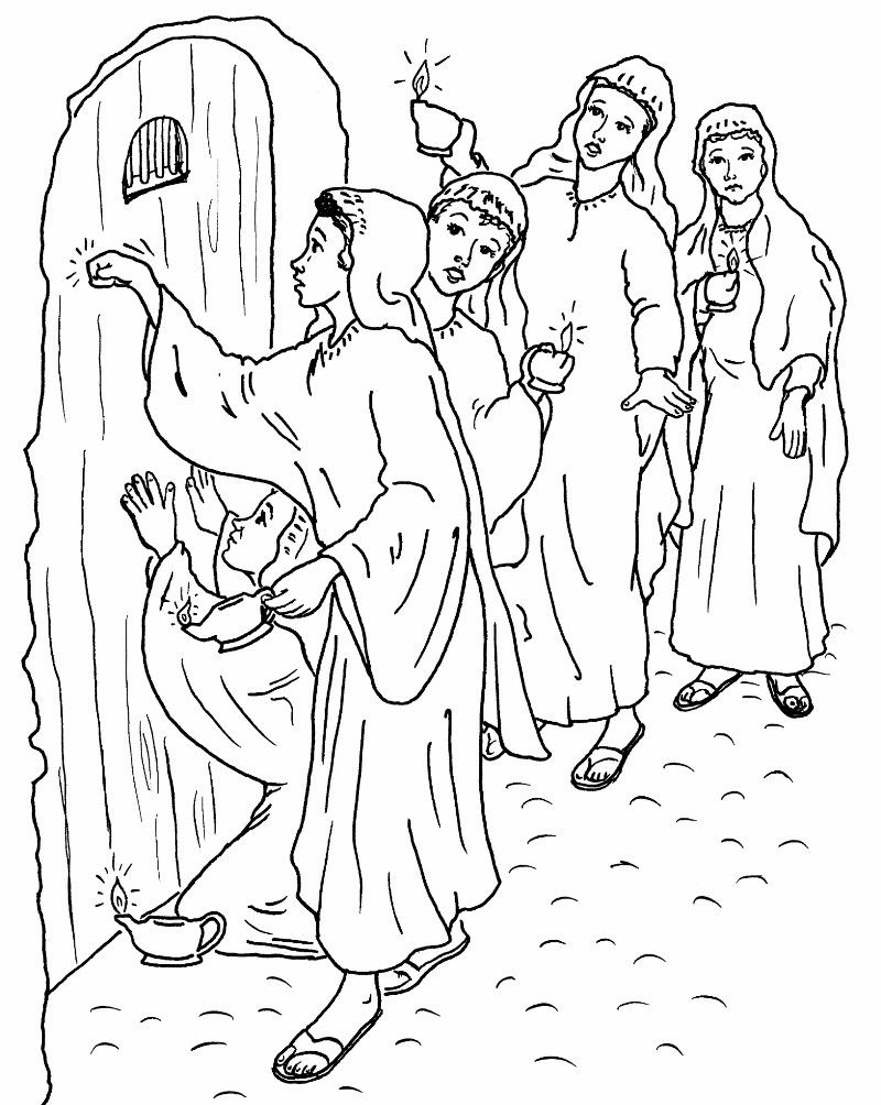 Ten Virgins Coloring Pages Bible Coloring Pages Bible Coloring