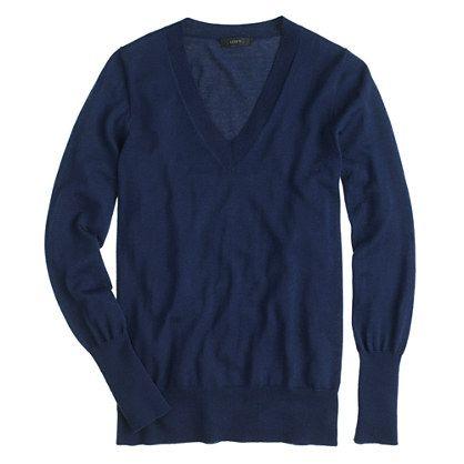 This is at the very top of our list of wardrobe essentials. In soft merino wool with flattering rib trim, it's one you can justify getting in multiples. <ul><li>Relaxed fit.</li><li>Hits at hip.</li><li>Merino wool in a 14-gauge knit.</li><li>Rib trim at neck, cuffs and hem.</li><li>Dry clean.</li><li>Import.</li><li>Online only.</li></ul>