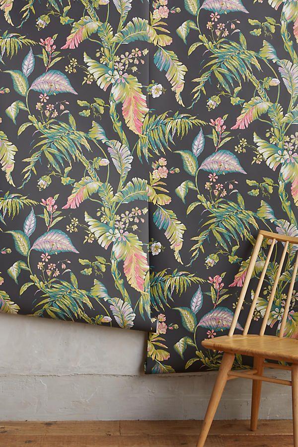 Fiji Gardens Wallpaper Tropical print wallpaper, Print