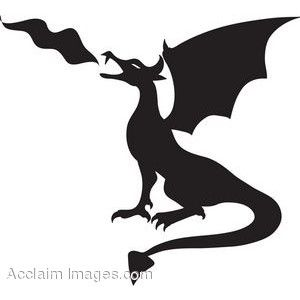 Fire Breathing Dragon Silhouette Google Search Dragon Silhouette Fire Breathing Dragon Clip Art Pictures
