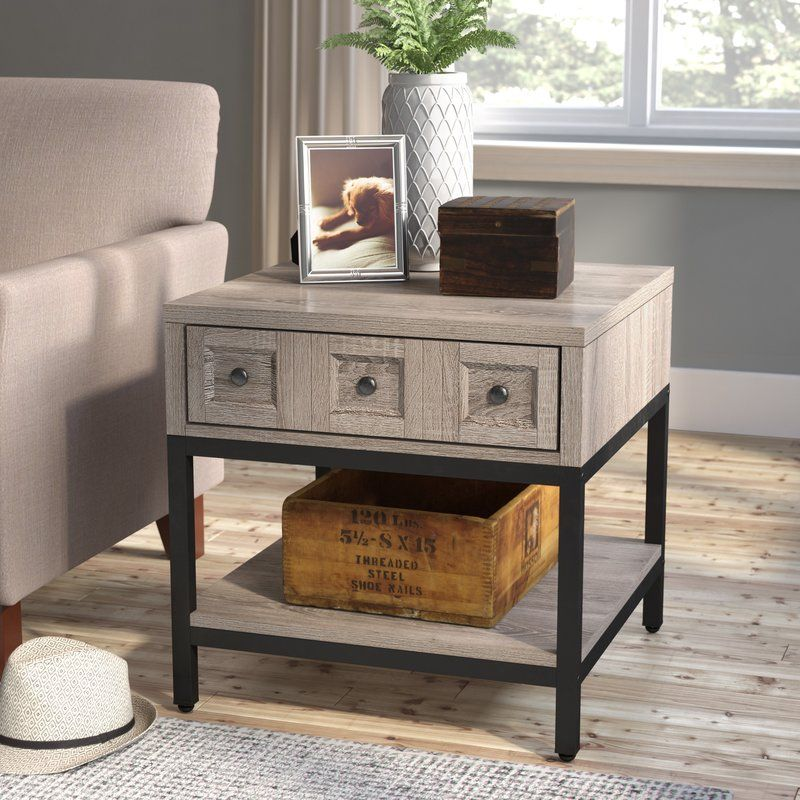 Omar End Table With Storage End Tables With Storage Modern Farmhouse Coffee Table Farmhouse Coffee Table Sets