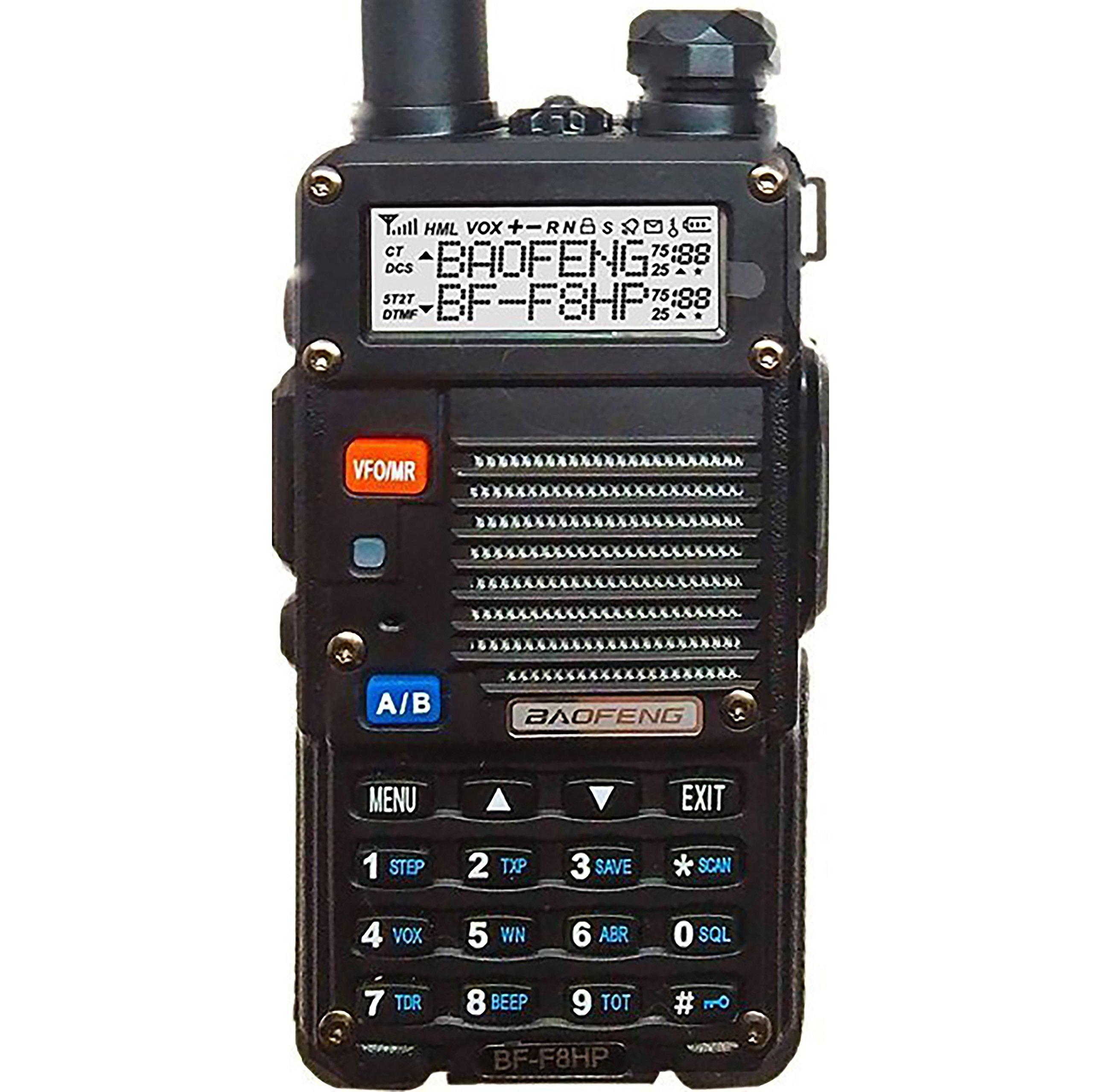 Baofeng BF-F8HP Walkie Talkie Dual Band VHF UHF Two Way Radio UV-5R 3rd Gen