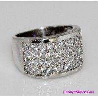 Silpada Artisan Jewelry Cubic Zirconia Size 8 Tapered Band 925 ..