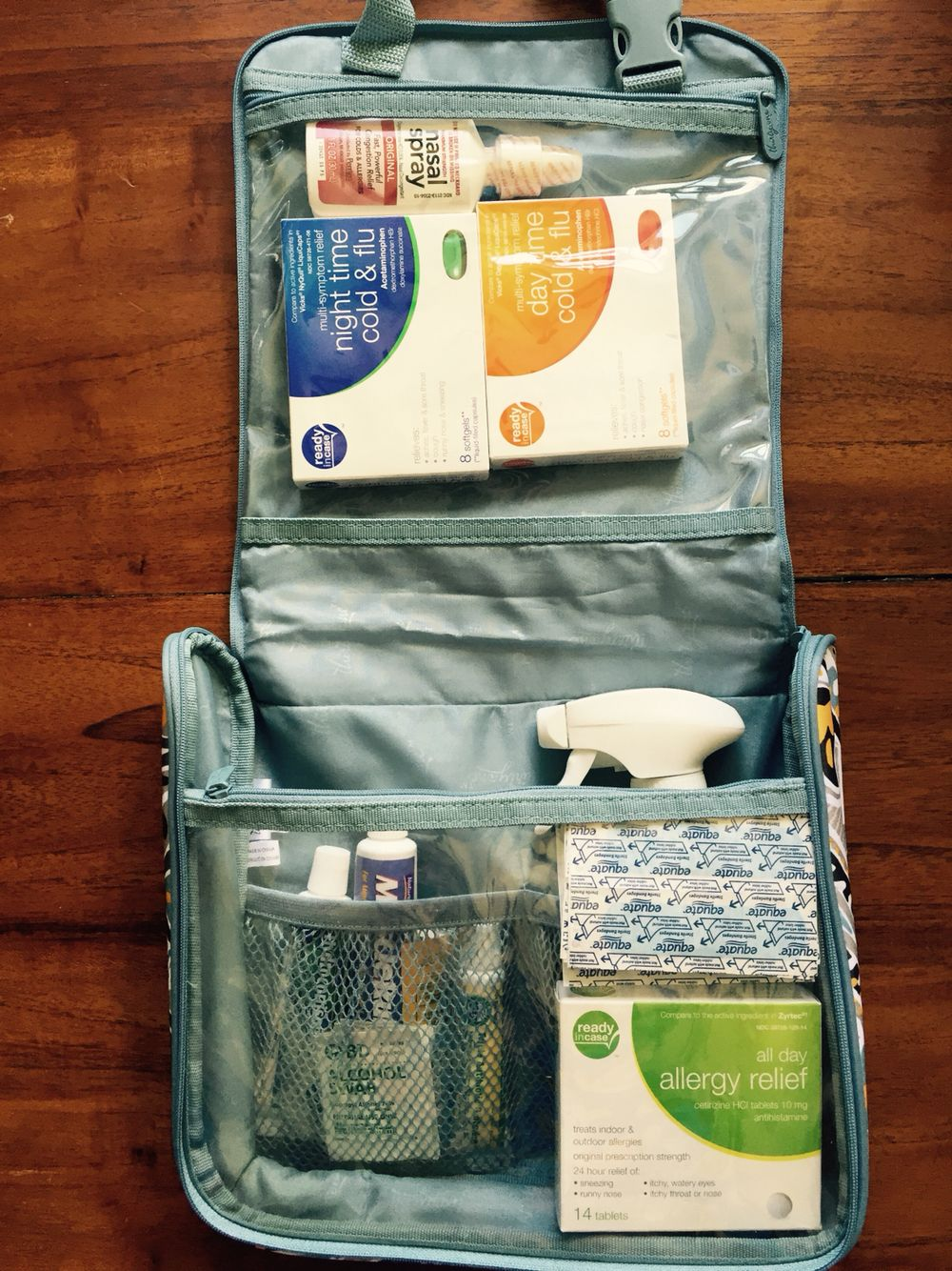 first aid kit in process the hanging travelers case from thirty one