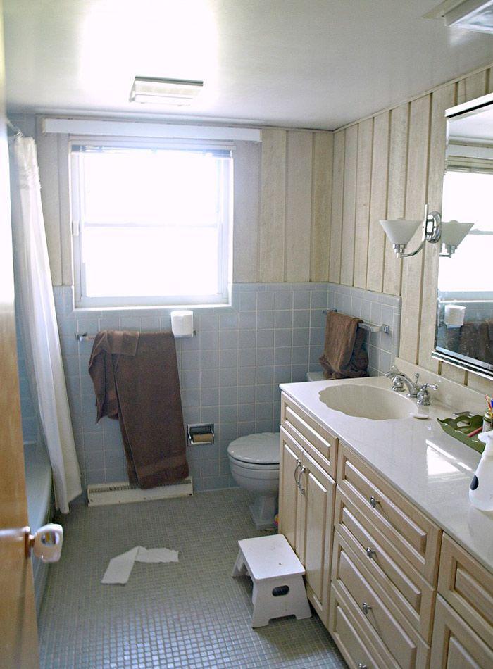Before  After A Modern, Wheelchair-Accessible Bathroom Bathroom
