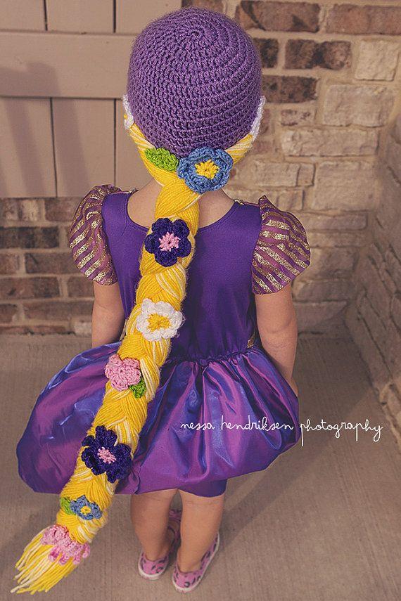 2b9f514437c Rapunzel hat crochet Rapunzel cap Rapunzel braid by JandEdoodles ...
