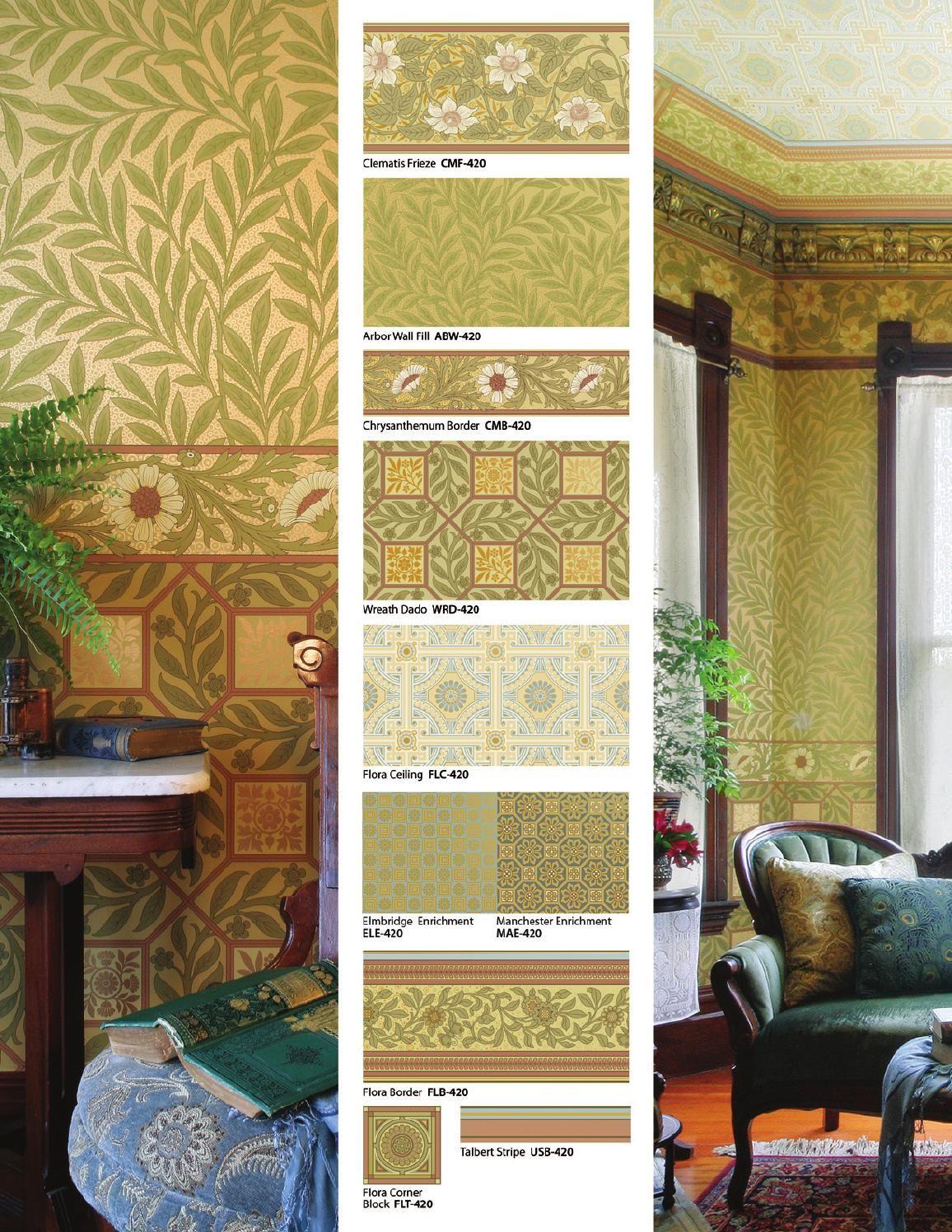 B J Talbert Wallpaper Collection Wallpaper Victorian Interiors Craftsman Style Textiles