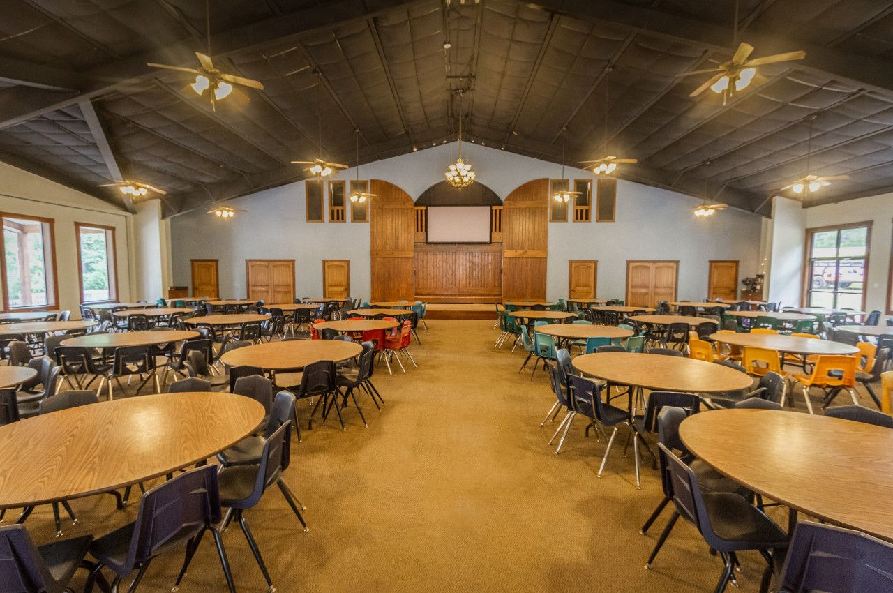 Pine Cove Retreat Facilities Hostel Room Dining Hall Cabin Style