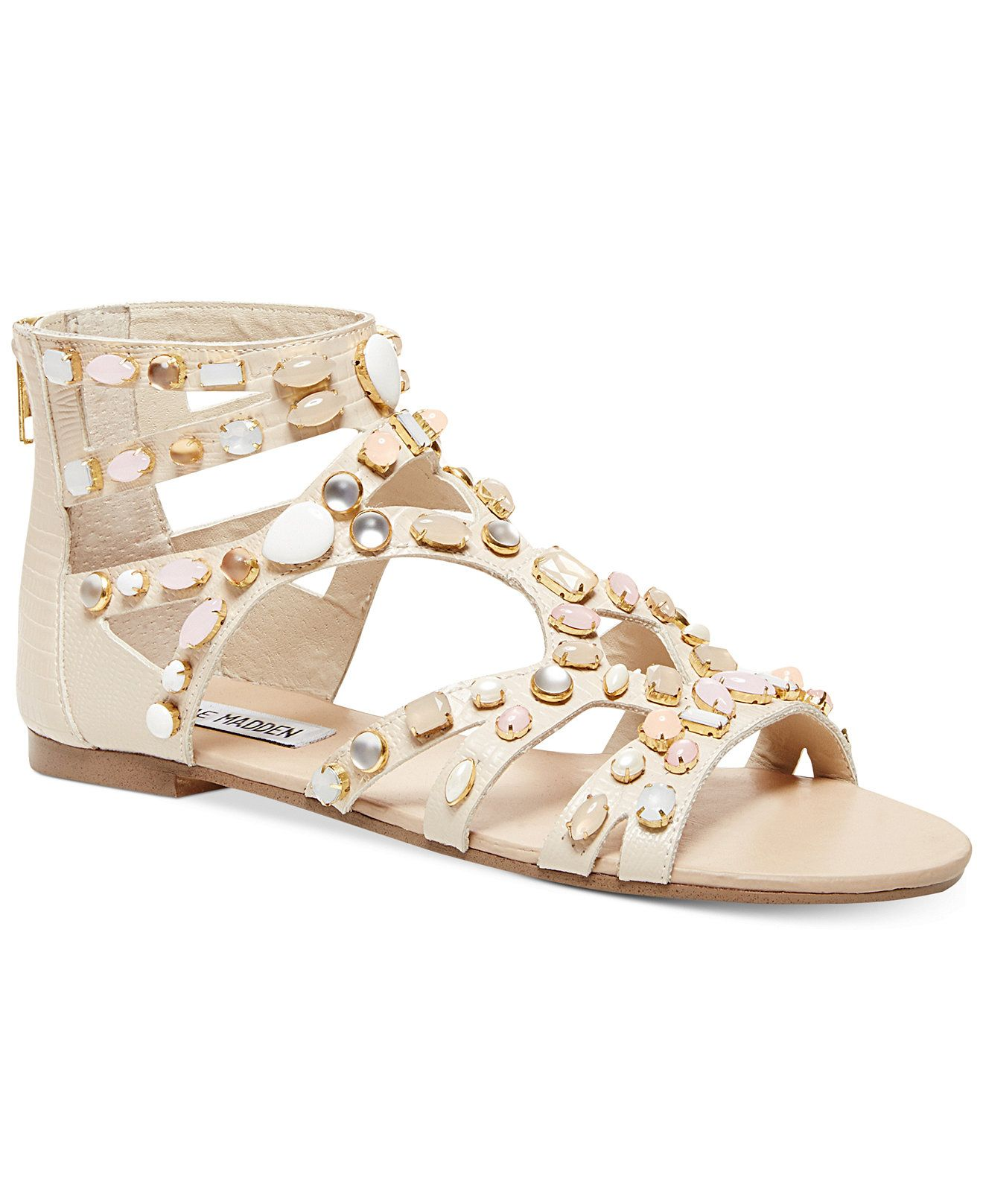 db5991973b3 Steve Madden Women s Culver-S Embellished Gladiator Flat Sandals (Only at  Macy s) - Embellished Sandals - Shoes - Macy s