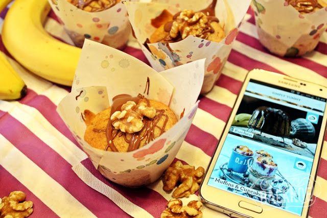 Crazy BackNoé: Simply Yummy: eine App und Bananen-Walnussmuffins