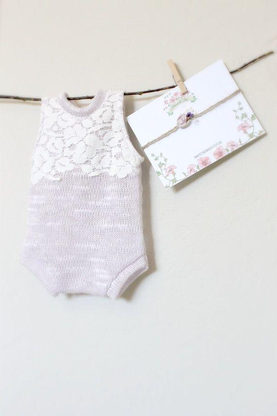 8b84db2453cb Newborn Lilac and Lace Romper Set