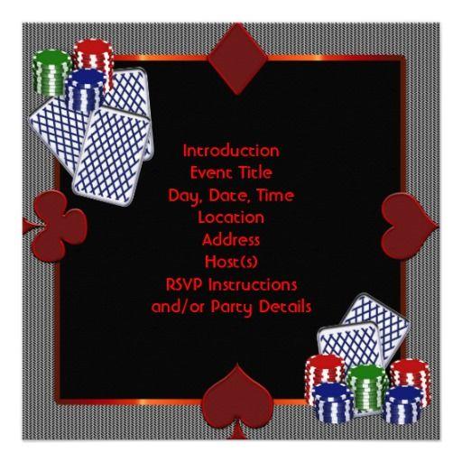 Party Invitation Template - Party invitation template: casino theme party invitations template