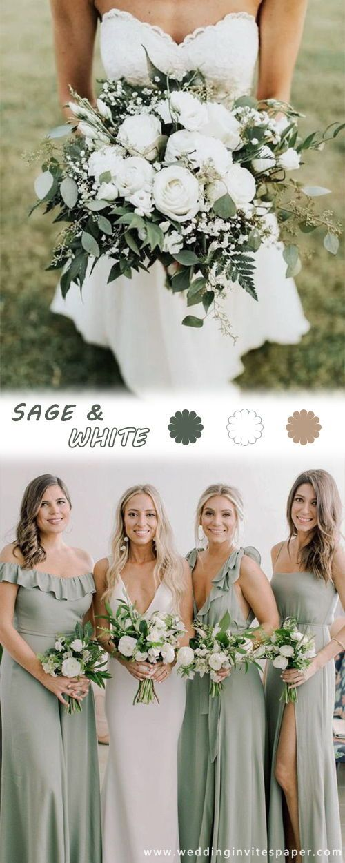 Top 6 Sage Green Weddings Color Palettes