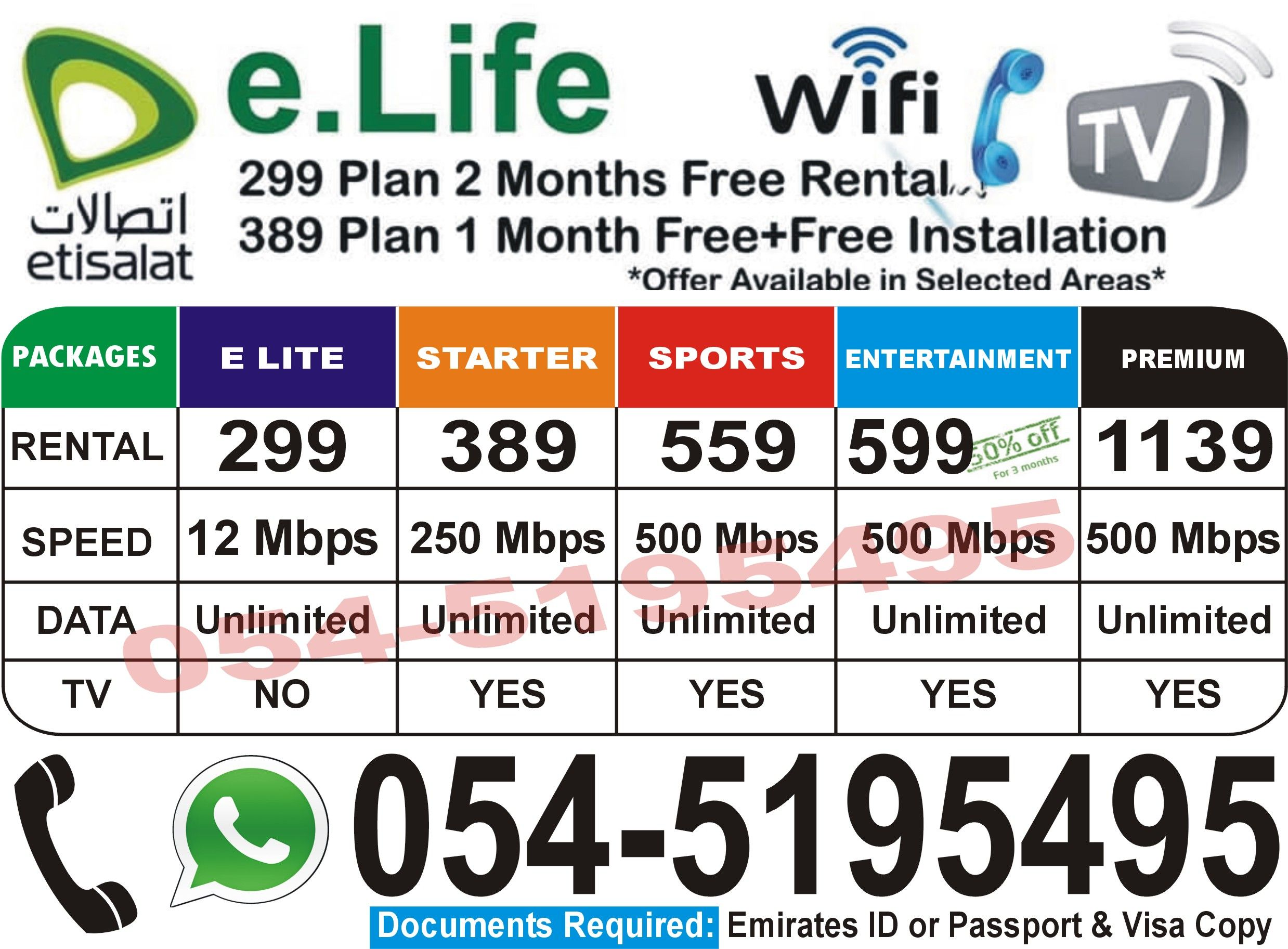 Etisalat Elife Home Internet Service Two Month Free Special Discount 24 7 Hours Services Internet Packages Home Internet Wifi Router