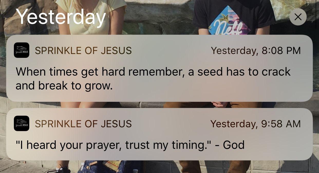 Sprinkle of Jesus App Review Sprinkle of jesus quotes