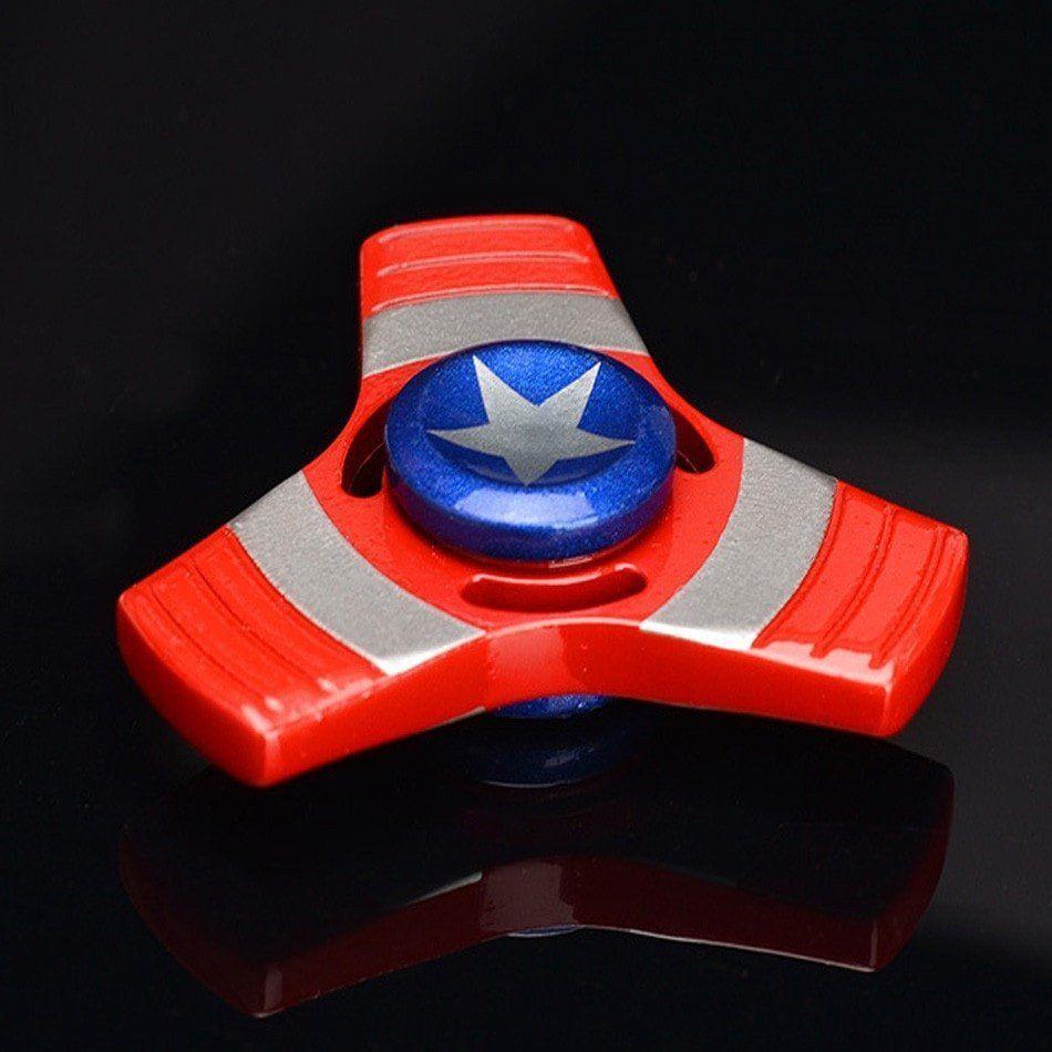 NEWEST Design Fidget Spinner Splatter Paint QUAD Spinner Green//Purple
