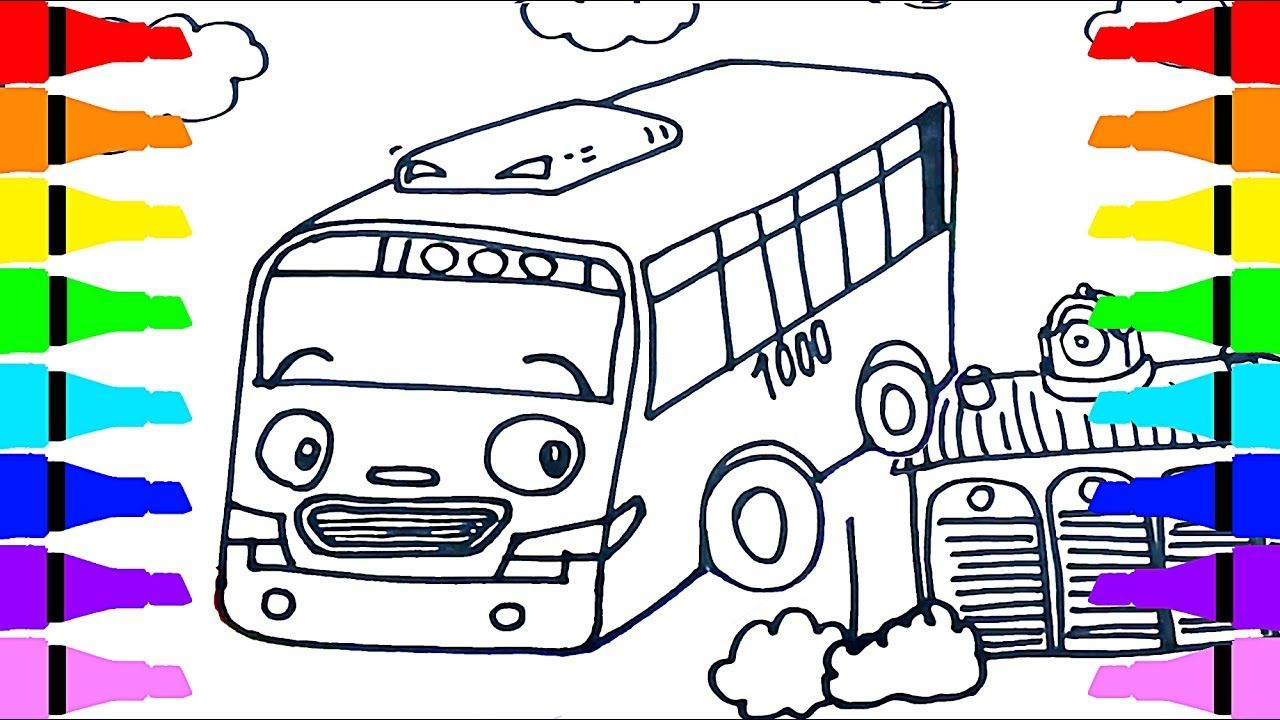 Tayo the Little Bus ROGI Draw Coloring For Kids Children Draw