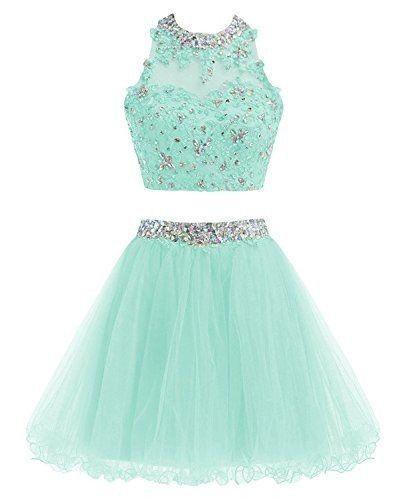 Vestido de gala verde claro