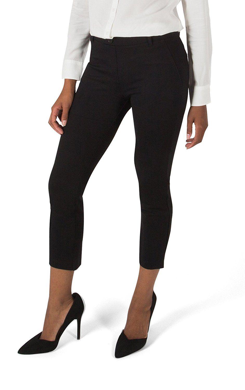 Betabrand womens dress pant yoga pants croppedleg at