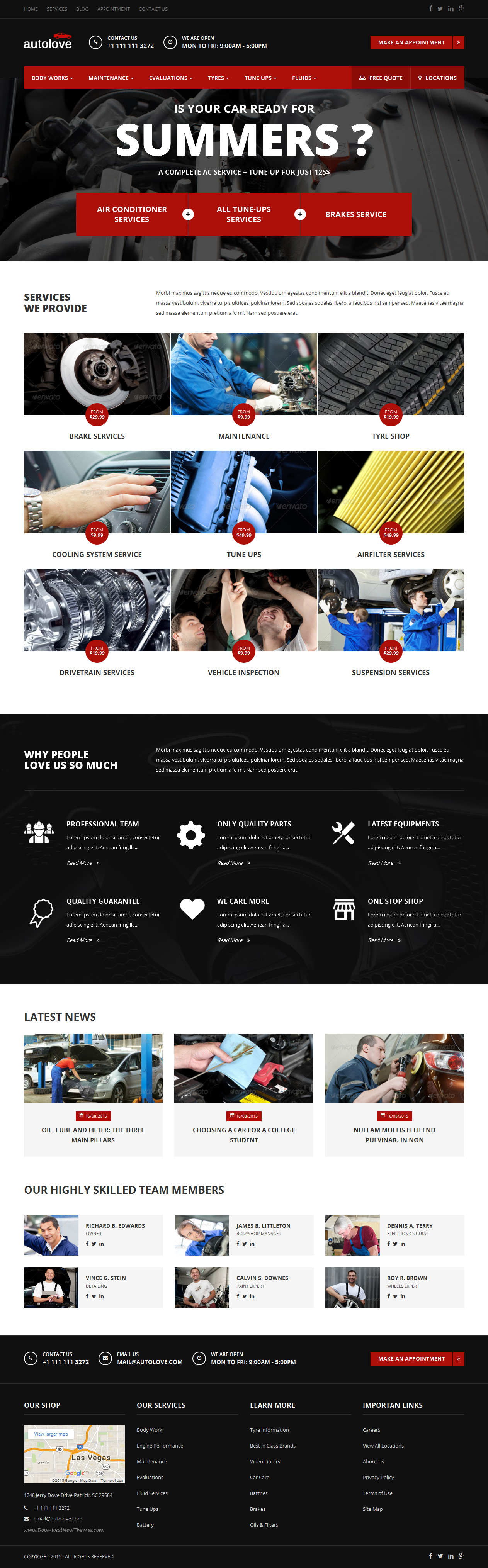 Autolove - Vehicle Repair Mechanic Shop Website Template #HTML ...