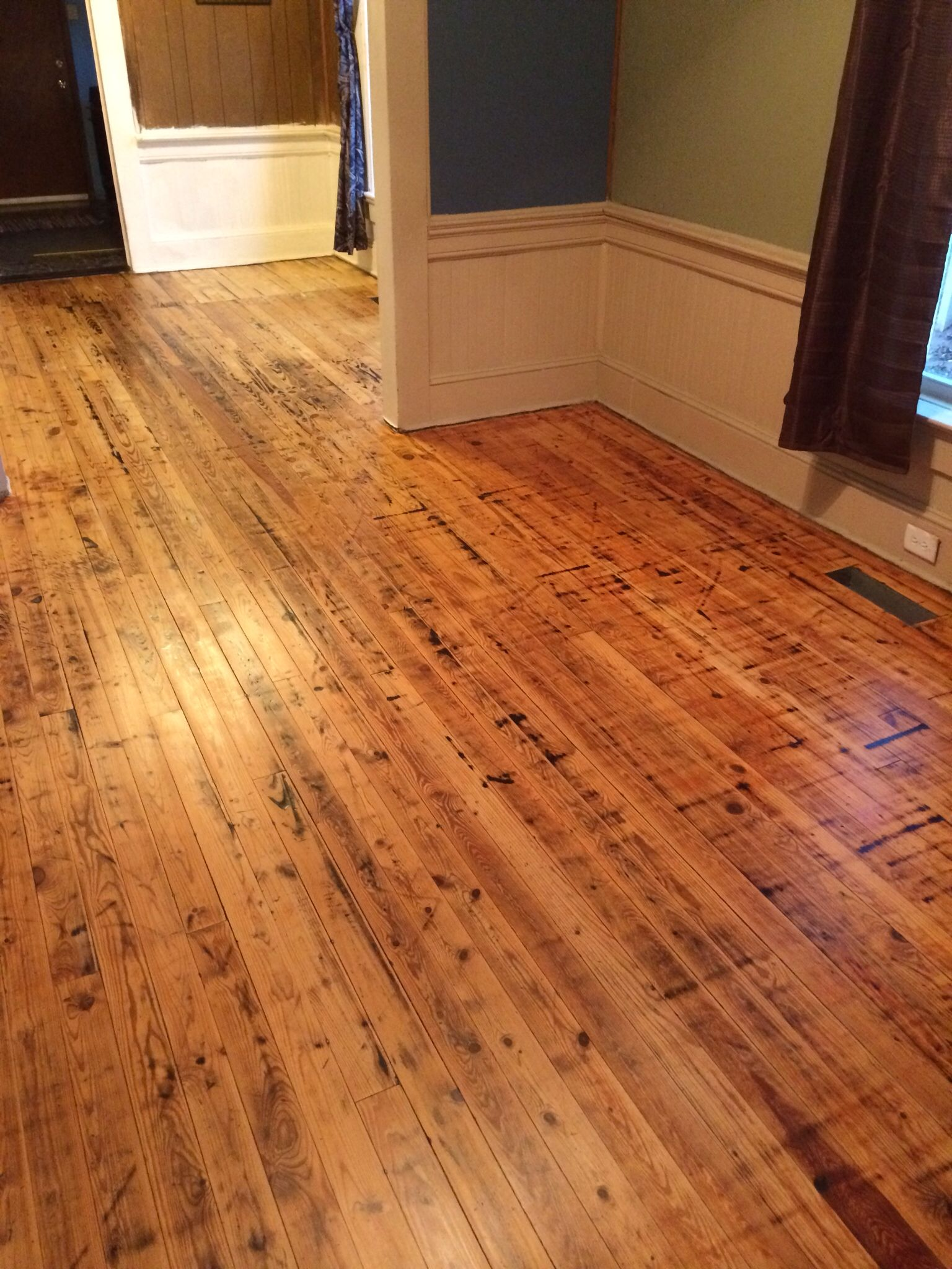 how to remove paint from hardwood flooring