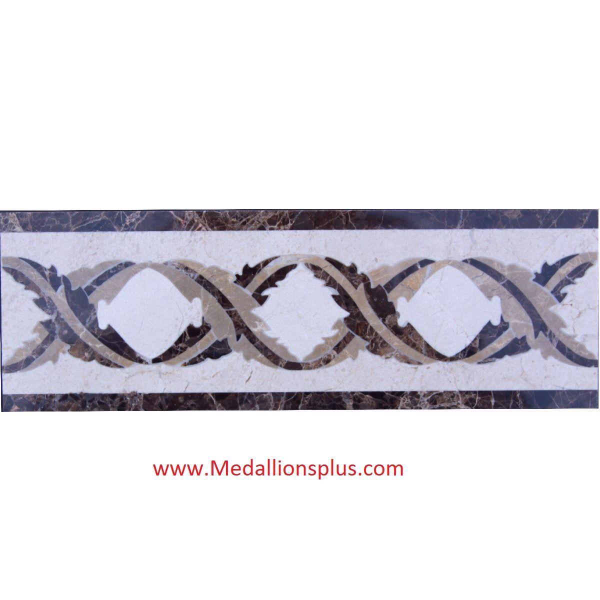 Daphne 4 x 12 waterjet tile border - MedallionsPlus.com ...