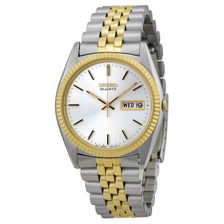 Seiko Day/Date Dress Two-tone Stainless Steel Men's Watch SGF204 - Stainless Steel - Seiko - Shop Watches by Brand - Jomashop