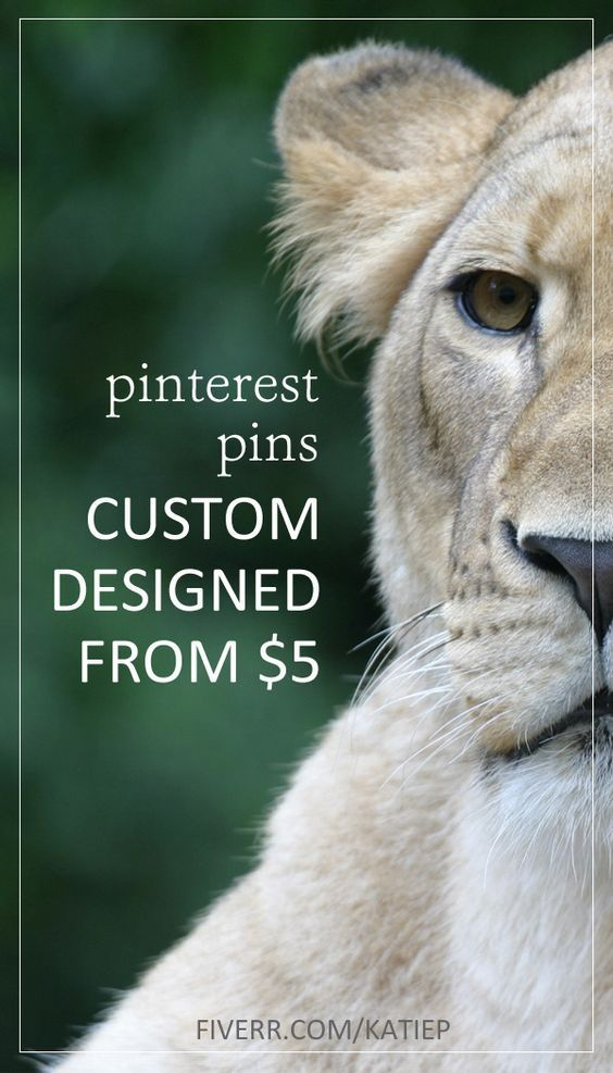 Professional eye catching Pinterest pins custom designed from only $5 - for bloggers >> http://bit.ly/katiep_pinterest