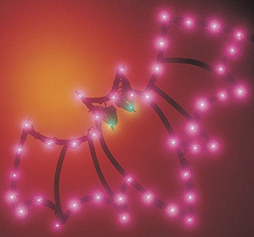 amazoncom impact innovations halloween lighted window decoration bat party decorations - Light Up Halloween Decorations