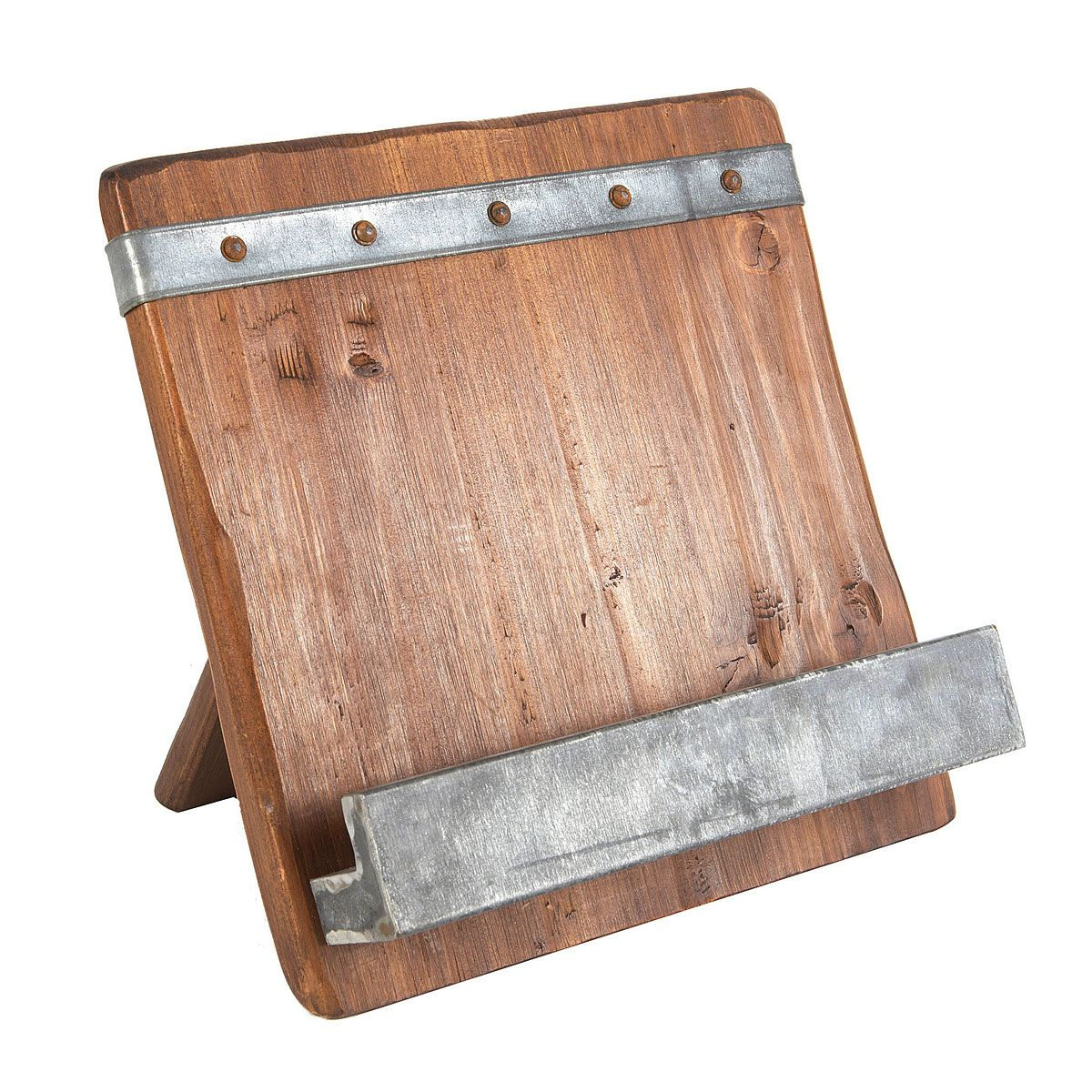 Reclaimed Wood Cookbook Stand Holder Uncommongoods
