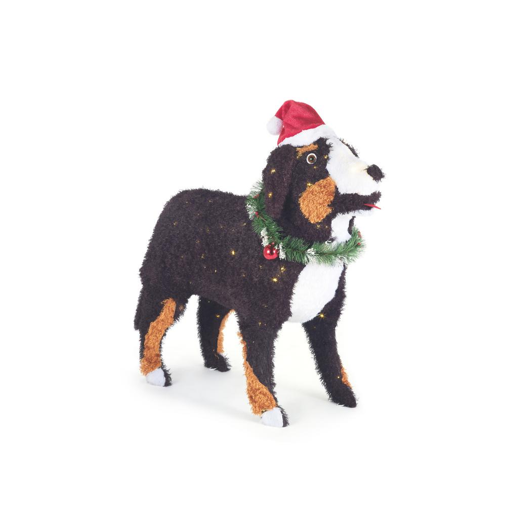 Four Wreath Designs Bernese Mountain Dog Christmas Ornament Personalization Available!