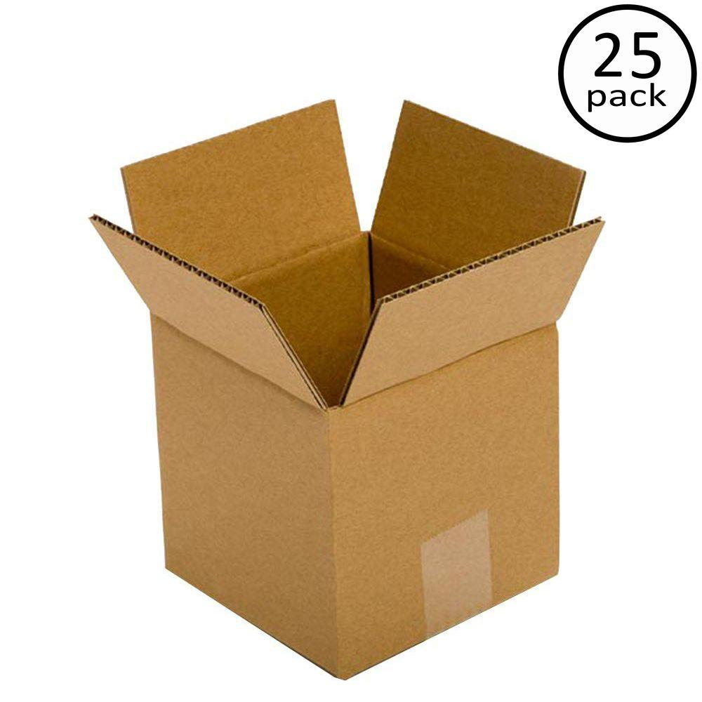 Pratt Retail Specialties 5 In L X 5 In W X 5 In D Box 25 Pack Corrugated Box Corrugated Cardboard Boxes Moving Boxes