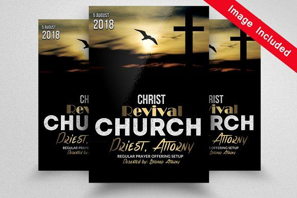 Revival Church Flyer Templates Flyer Template Template And