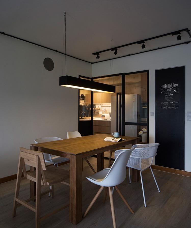 Schiebetür zwischen Küche und Wohnzimmer aus Holz oder Glas - schiebetür für küche