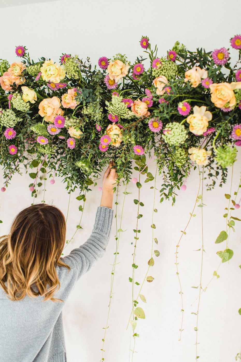 How To Make A Flower Photo Booth Backdrop With Fiftyflowers Com Diy Photo Booth Backdrop Photo Booth Backdrop Floral Backdrop Wedding