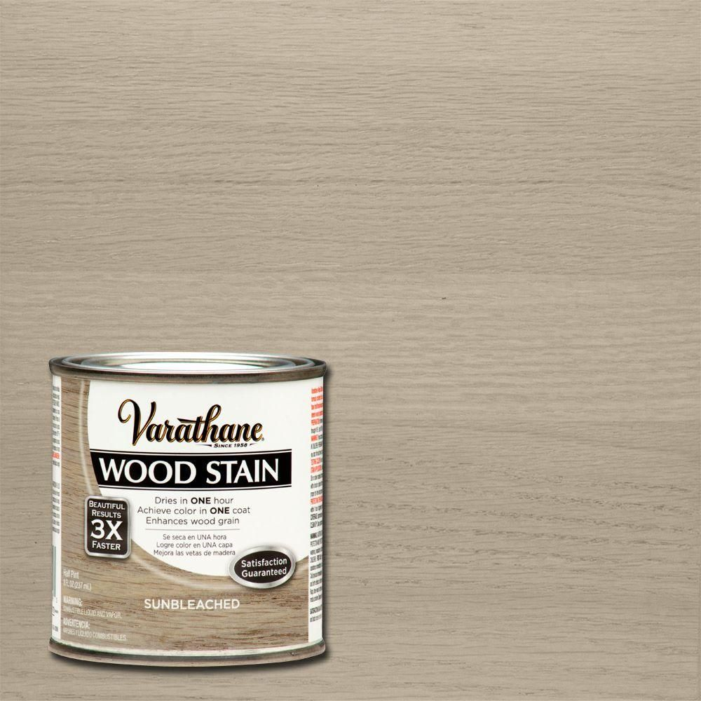 Varathane 8 oz. Sunbleached Wood Interior Stain   Wood stain, Woods ...