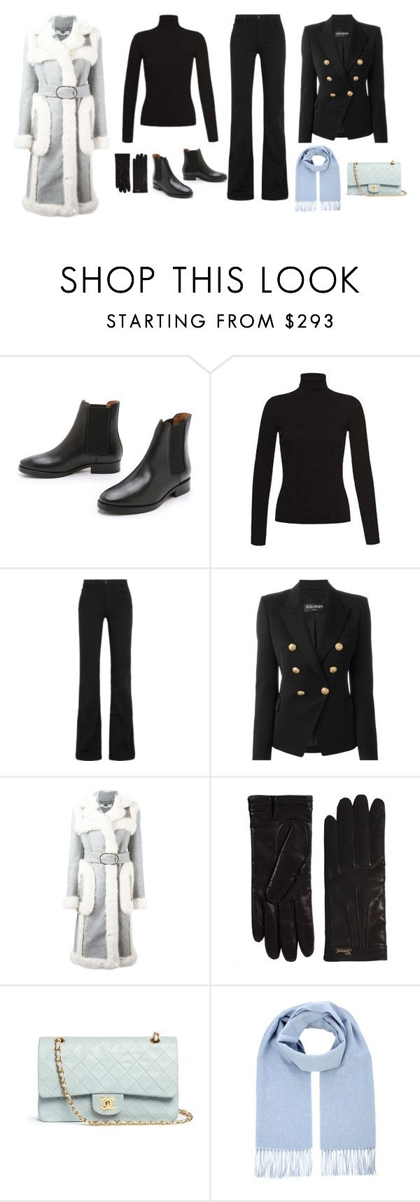 """WINTER OUTFIT #1"" by ebvx on Polyvore featuring Acne Studios, J Brand, Balmain, STELLA McCARTNEY, Gucci, Chanel and Winter"