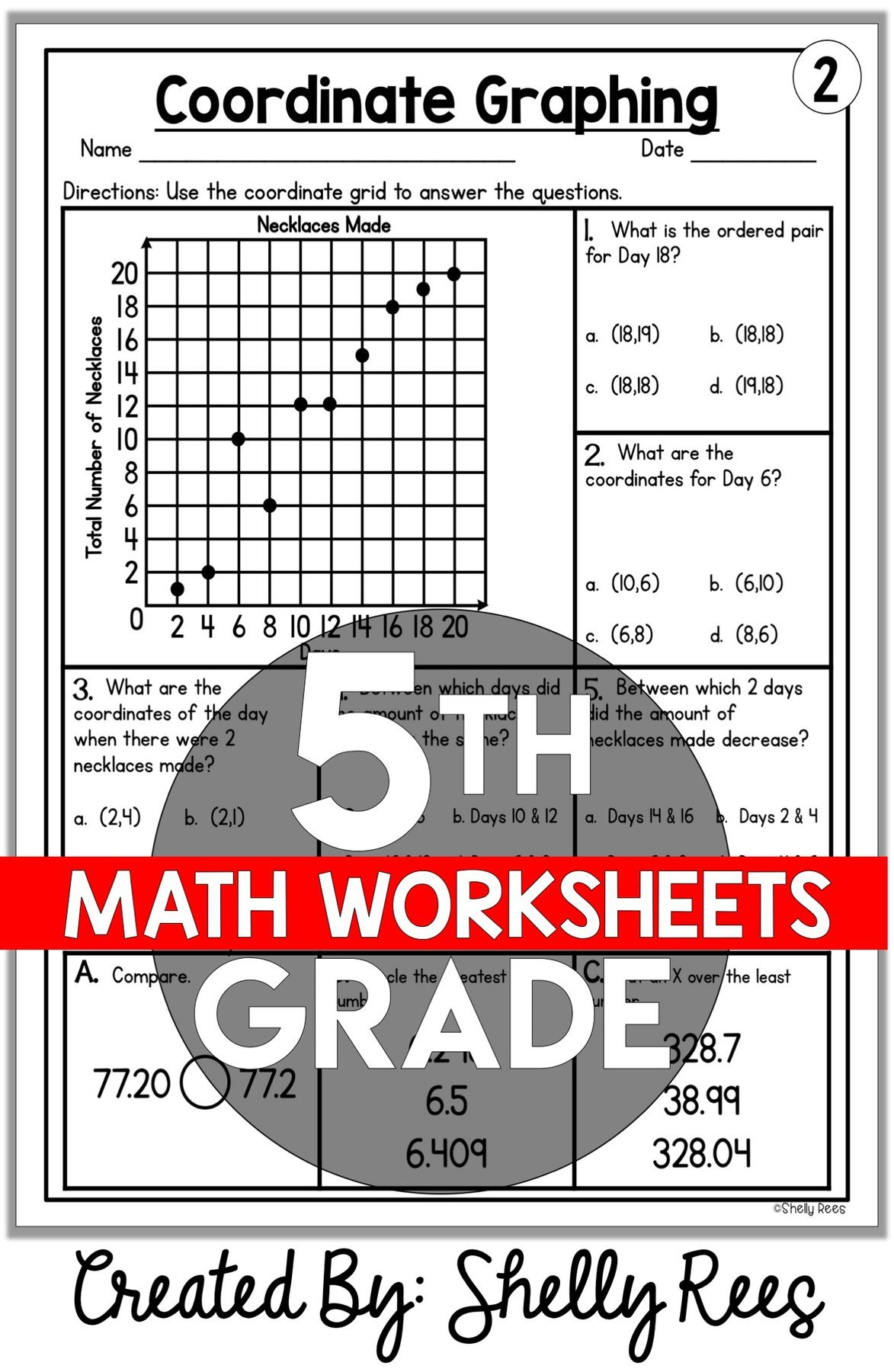 5th Grade Math Worksheets Free And Printable Appletastic Learning 5th Grade Math Grade 5 Math Worksheets Math Review Worksheets