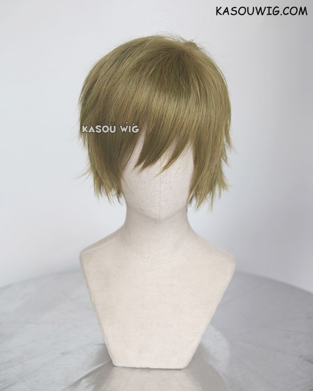 Kasou Wig Free Iwatobi Swim Club Tachibana Makoto Green Yellow Mixed Short Layered Cosplay Wig Sp21 Cosplay Wigs Wigs Iwatobi Swim Club