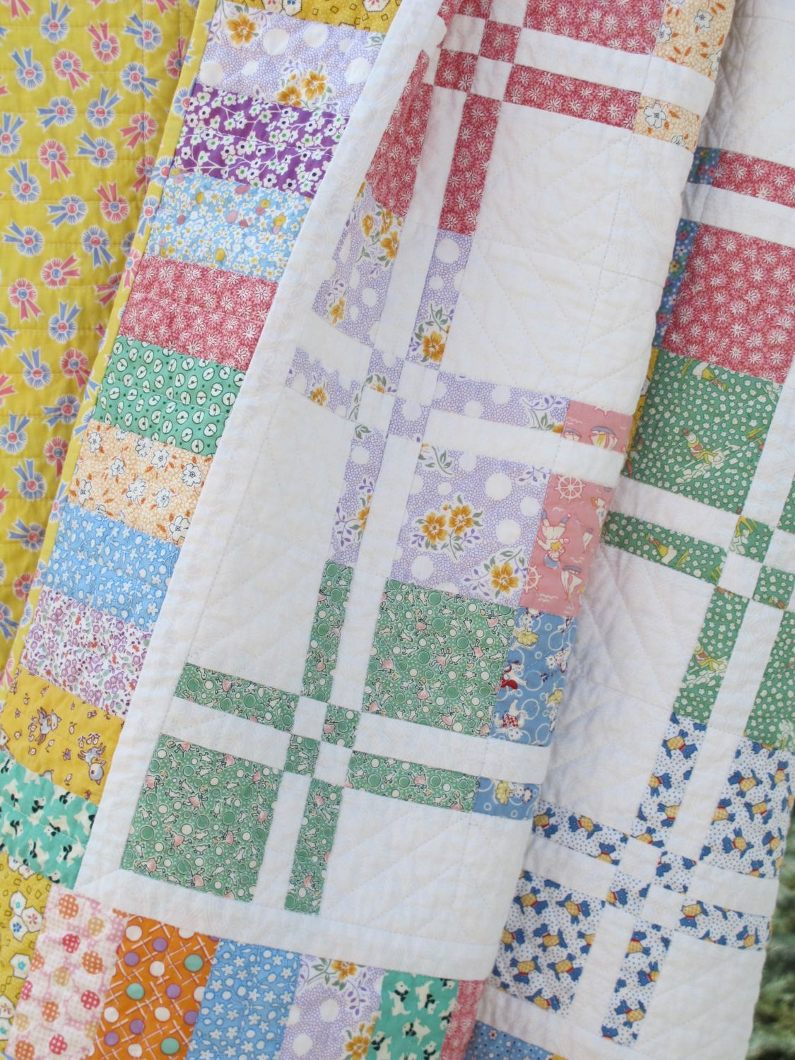 Handcrafted Disappearing Four Patch Quilt by NorahJanes on Etsy ... : disappearing 4 patch quilt block - Adamdwight.com