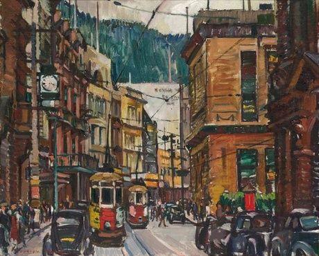Evelyn Page - Lambton Quay 1949
