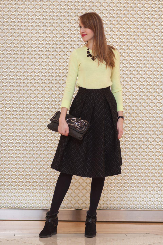 Full skirt and lots of pattern on the blog at http://redlipstickoptional.com/2016/03/17/full-skirt-look