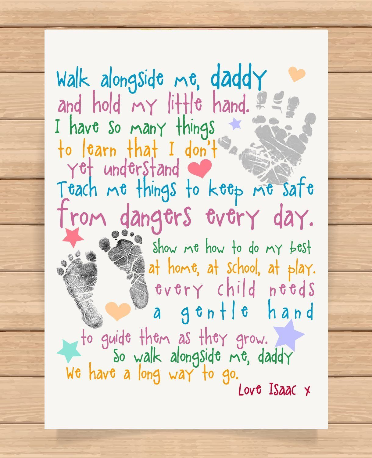 Personalised Dad Word Art Daddy Fathers day Present Christmas Gift xmas