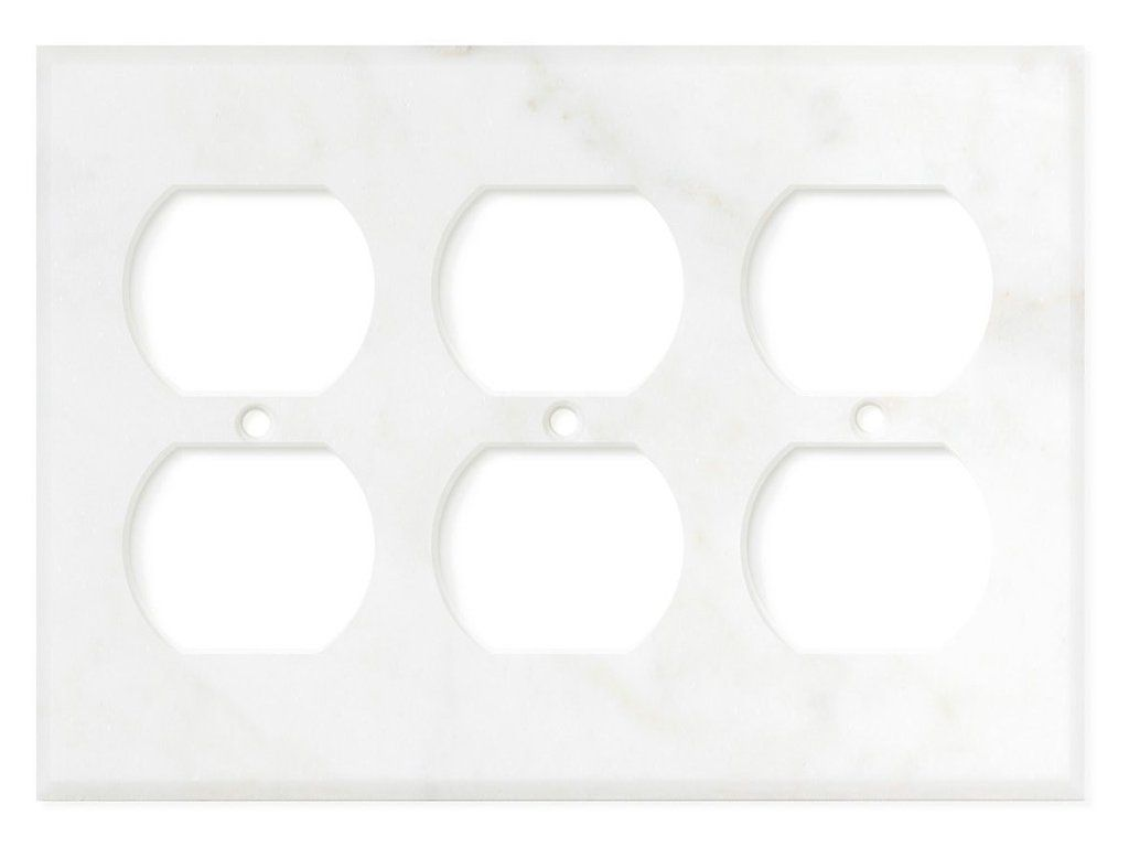 Italian Calacatta Gold Marble Triple Duplex Switch Wall Plate Switch Plate Cover Polished Switch Plate Covers Calacatta Gold Marble Plates On Wall