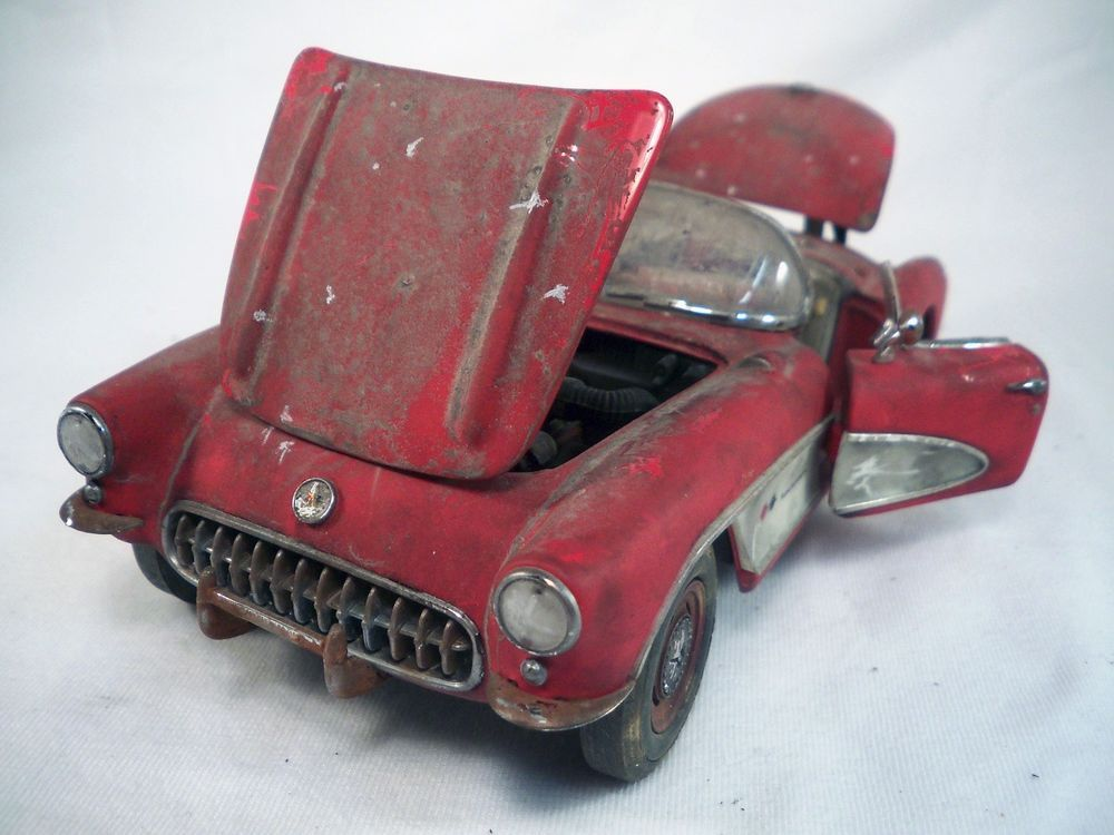 1957 Corvette Franklin Mint Barn Find Weathered Unrestored ...