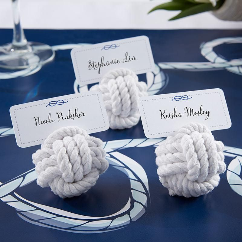 Nautical Rope Place Card Holder (Set of 6) #ropeknots